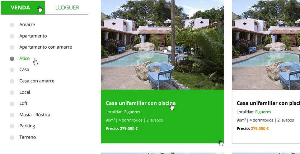 Descantia dise o de p gina web de agencia inmobiliaria en - Inmobiliarias en figueres ...